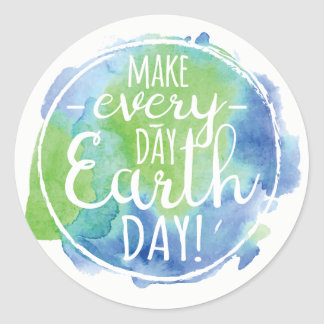 Make Everyday Earth Day Sticker