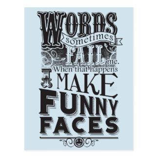 Make Faces Postcard