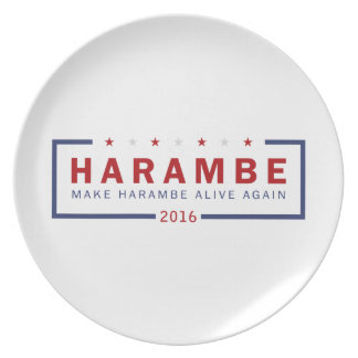 Make Harambe Alive Again Party Plate