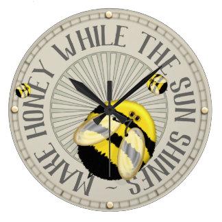 Make Honey Beekeeping Large Clock