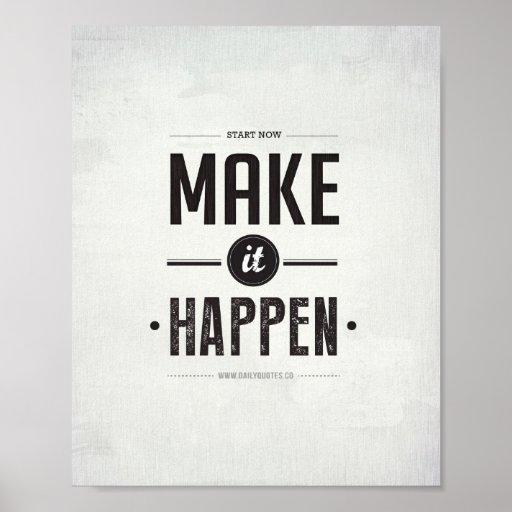"""Make it Happen - 8""""x10"""" Art Print"""