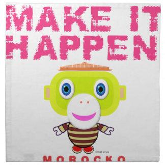 Make It Happen-Cute Monkey-Morocko Napkin