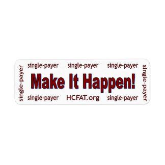 Make It Happen! Sticker Return Address Label