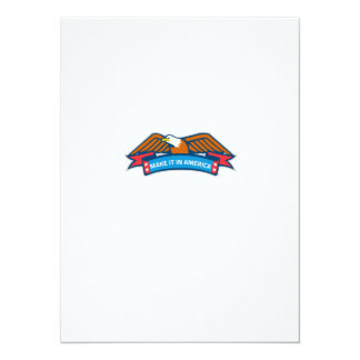 Make It In America Banner Eagle Retro Card