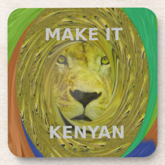 Make it Kenyan Beverage Coasters