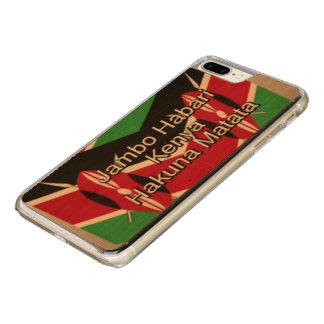 Make it Kenyan National Flag Colors Carved iPhone 8 Plus/7 Plus Case