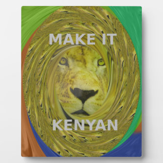 Make it Kenyan Plaque