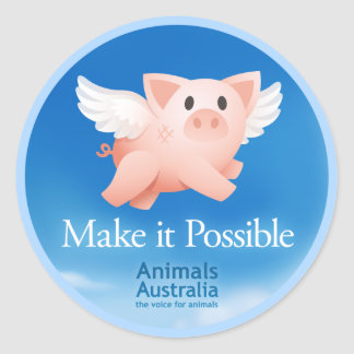 Make it Possible sticker small round (20 pk)