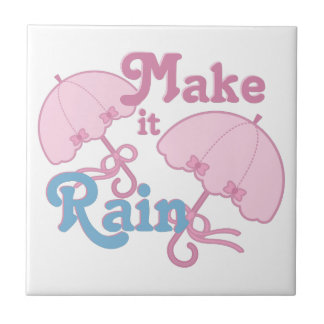Make It Rain Small Square Tile