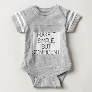 Make it simple. baby bodysuit