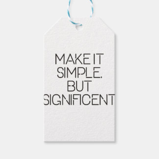 Make it simple. gift tags
