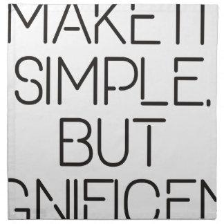 Make it simple. napkin