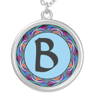 """""""Make it Your Initial"""" Blue Necklace"""