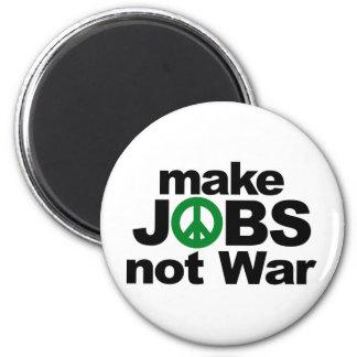 Make Jobs, Not War Refrigerator Magnets