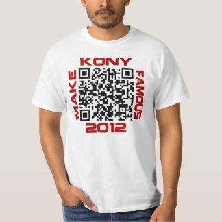 Make Kony Famous 2012 Video QR Code Joseph Kony T-Shirt