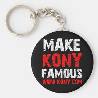 Make Kony Famous - Kony 2012 Basic Round Button Key Ring