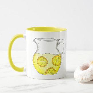 Make Lemonade Lemon Ade Yellow Citrus Pitcher Mug