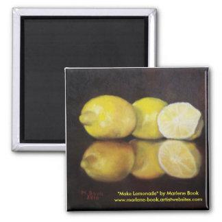 Make Lemonade Square Magnet