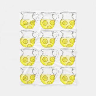 Make Lemonade Yellow Lemon Ade Pitcher Blanket