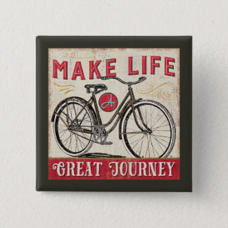 Make Life a Great Journey Quote 15 Cm Square Badge