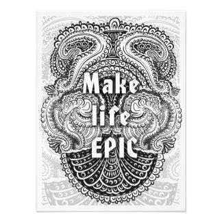 Make life EPIC - Positive Quote´s Photo Print