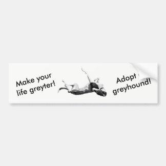 Make life greyter - adopt greyhound bumper sticker