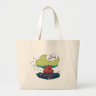 Make Like a Tree Large Tote Bag