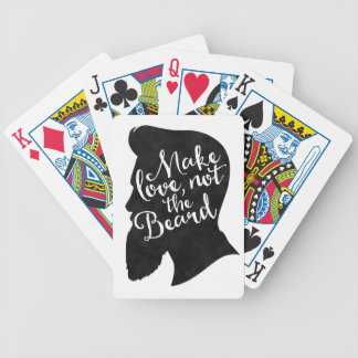 Make love not the beard - silhouette bicycle playing cards