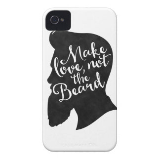 Make love not the beard - silhouette Case-Mate iPhone 4 case