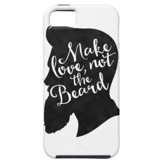 Make love not the beard - silhouette iPhone 5 cover