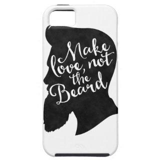 Make love not the beard - silhouette tough iPhone 5 case