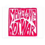 Make Love, Not War - Hippie Design for Peace Post Card