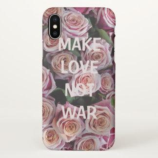 MAKE LOVE NOT WAR Iphone X phonecase iPhone X Case