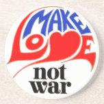 Make Love Not War Peace Beverage Coaster