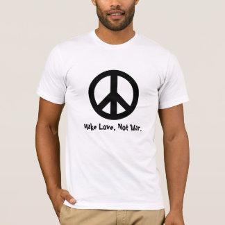 Make Love Not War. Peace Sign Teeshirt T-Shirt