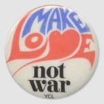 Make Love Not War Peace Symbol Sticker