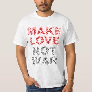 Make Love Not War Typography T-Shirt