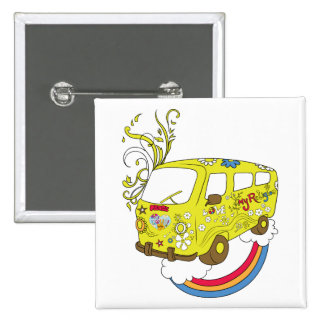 Make Love Not War Van ~ 60s Hippie Peace Sign 15 Cm Square Badge