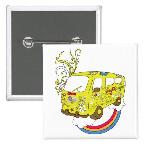 Make Love Not War Van ~ 60s Hippie Peace Sign Pins