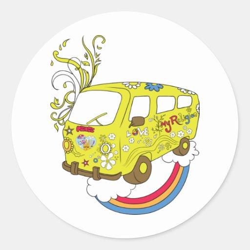 Make Love Not War Van ~ 60s Hippie Peace Sign Stickers
