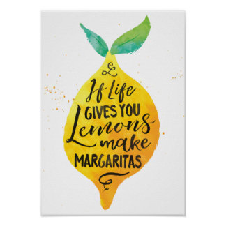 Make Margaritas Watercolour Quote Art Poster