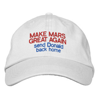 Make Mars Great Again Funny Anti Donald Trump 2016 Embroidered Hats