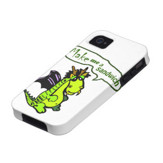 Make Me a Sandwich Dinosaur Dragon iPhone Case iPhone 4/4S Cases