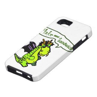 """Make Me a Sandwich"" Dinosaur/Dragon iPhone Case iPhone 5 Cover"