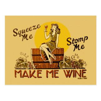 Make Me Wine Postcard