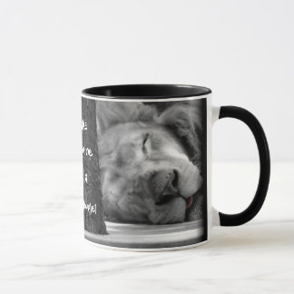 make mine a double ~ funny lion coffee / tea mug