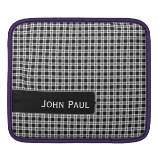 Make Mine Black and White iPad Sleeve