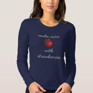 Make mine with strawberries - women's tops tee shirt
