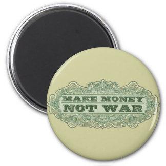 Make Money Not War 6 Cm Round Magnet