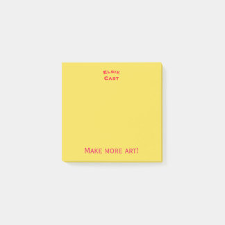 Make more art post-its post-it notes